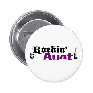 Rockin Aunt Pinback Button