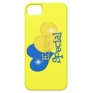 Rockin azul y amarillo iPhone 5 Case-Mate cárcasas