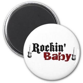 Rockin Baby 2 Inch Round Magnet