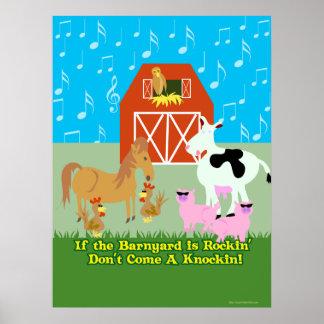 Rockin Barnyard Poster