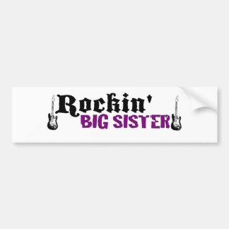 Rockin Big Sister Bumper Sticker