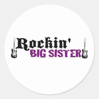 Rockin Big Sister Classic Round Sticker