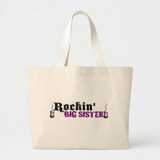 Rockin Big Sister Jumbo Tote Bag