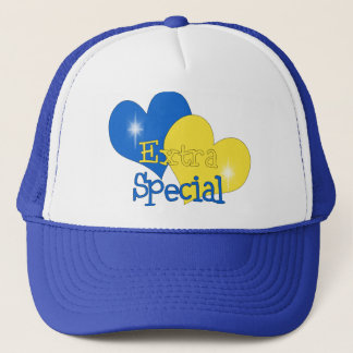 Rockin Blue and Yellow Trucker Hat