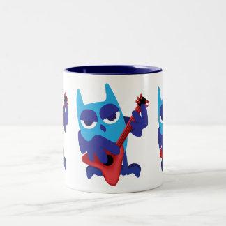 Rockin' Blue Owl Two-Tone Coffee Mug