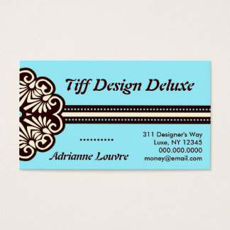 ROCKIN' BLUE TIFFANY DELUXE BUSINESS CARD