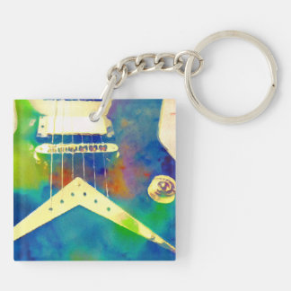Rockin Blues Guitar Keychain