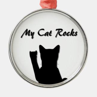 Rockin' Cat Premium Round Ornament