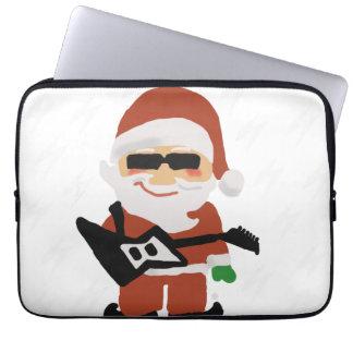 Rockin' Christmas Cool Santa Laptop Computer Sleeves