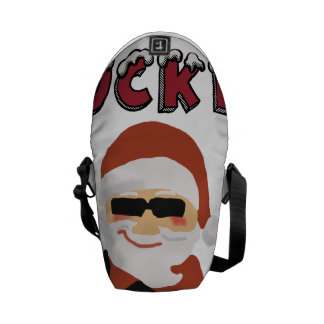 Rockin' Christmas Cool Santa Messenger Bag