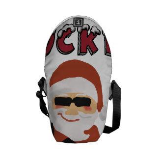 Rockin' Christmas Cool Santa Messenger Bag