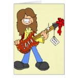Rockin' Christmas Dude Greeting Card