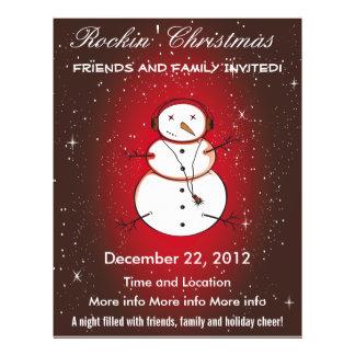 Rockin' Christmas Snowman Program Flyer