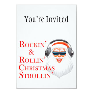 Rockin' Cool Santa Claus With Headphones Card