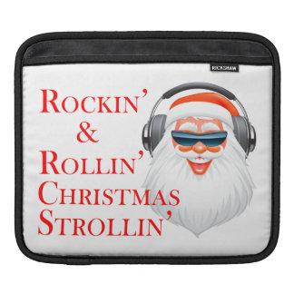 Rockin' Cool Santa Claus With Headphones iPad Sleeve