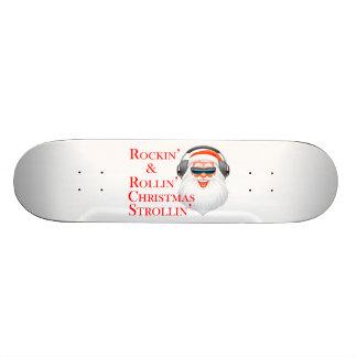 Rockin' Cool Santa Claus With Headphones Skateboard Deck