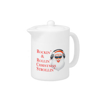 Rockin' Cool Santa Claus With Headphones Teapot