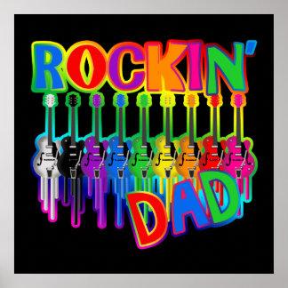 Rockin' Dad Bleeding Guitars Poster Print