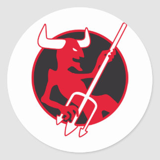Rockin Devil knows Classic Round Sticker