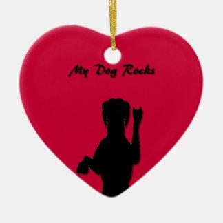 Rockin' Dog Heart Ornament
