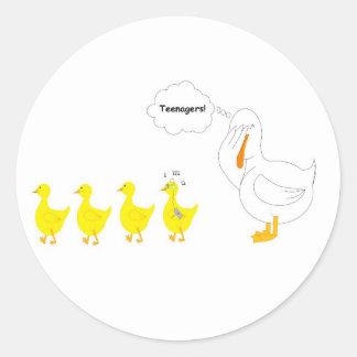 Rockin' Ducky Classic Round Sticker