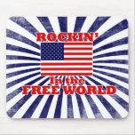 Rockin en el mundo libre tapete de ratón