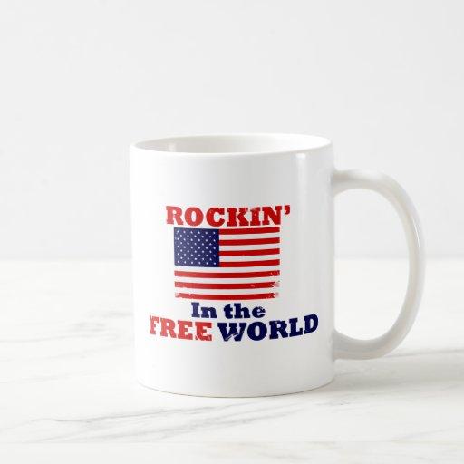 Rockin en el mundo libre taza