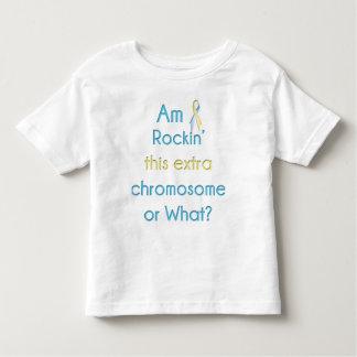Rockin esta cinta adicional del cromosoma playera de niño