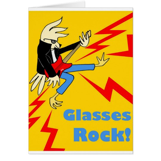 Rockin' glasses bird card