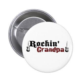 Rockin Grandpa Pinback Button