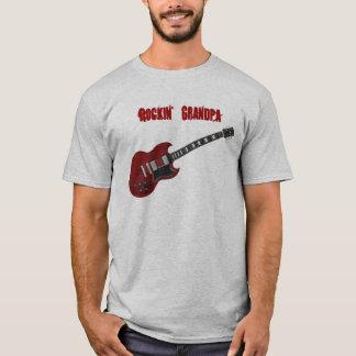Rockin' Grandpa, red & black guitar T-Shirt