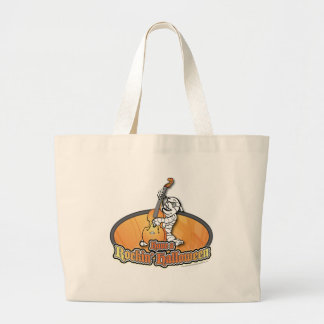 Rockin' Halloween with Mummy on the Upright Bass Canvas Bags