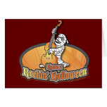 Rockin' Halloween with Mummy on the Upright Bass Cards