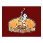 Rockin' Halloween with Mummy on the Upright Bass Custom Invitation