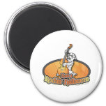 Rockin' Halloween with Mummy on the Upright Bass Refrigerator Magnets