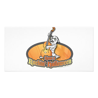 Rockin' Halloween with Mummy on the Upright Bass Photo Cards