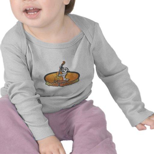 Rockin' Halloween with Mummy on the Upright Bass Tee Shirt