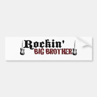 Rockin hermano mayor etiqueta de parachoque