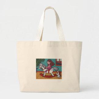 Rockin' Holly Jumbo Tote Bag