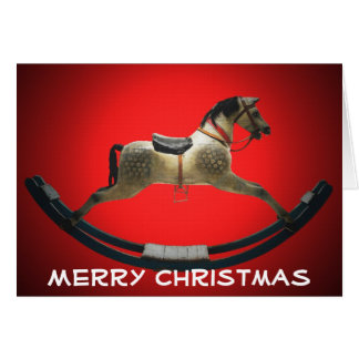 Rockin' Horse Christmas Greeting Card