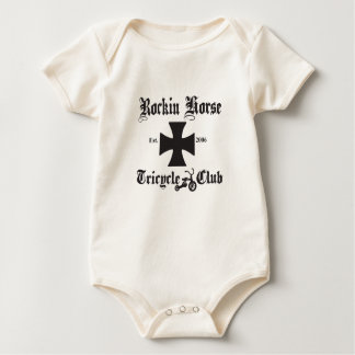 """ROCKIN HORSE TRICYCLE CLUB"" ORGANIC BABY BODYSUIT"