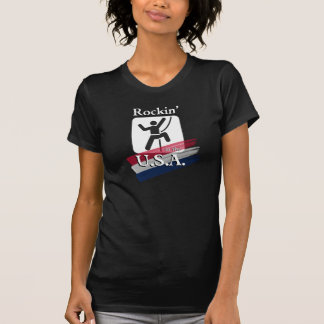 Rockin'. in the U.S.A. - Rock Climber T-Shirt