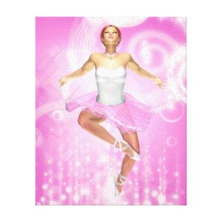Rockin' It Ballet Style Wrapped Canvas Print