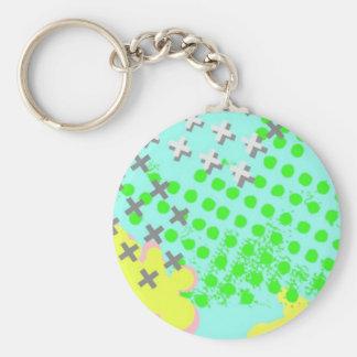 rockin basic round button keychain