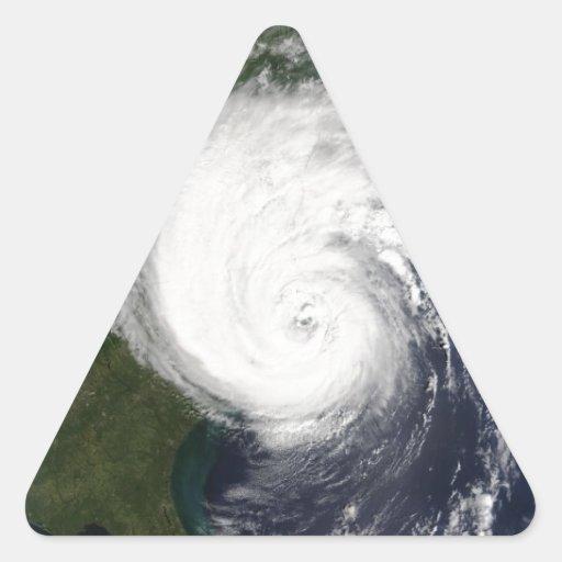 Rockin' Like A Hurricane Triangle Stickers