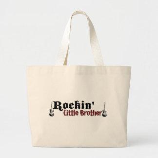 Rockin Little Brother Large Tote Bag