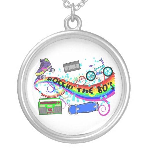 Rockin los años 80 collar personalizado