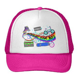 Rockin los años 80 gorras de camionero