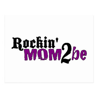 Rockin Mom 2 Be Postcard