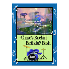 Rockin' Music Theme Birthday Invitations